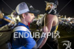 Age groupers have their body markings applied at Ironman Arizona…