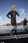 Meredith Kessler exiting the water at Ironman Arizona on November…