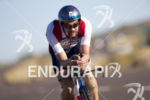 Tim O'Donnell during the bike leg at Ironman Arizona on…