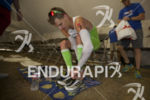 Brent McMahon during transition 2 at Ironman Arizona on November…