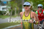 Haley Chura during the run portion of the 2014 Challenge…