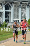 Emma Bilham and Eric Watson during the run portion of…