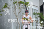 Guillaume Rondy during the run portion of the 2015 Ironman…