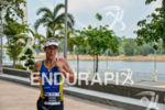 Kathryn Haesner during the run portion of the 2015 Ironman…
