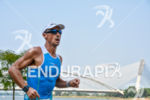 Age grouper athlete during the run portion of the 2015…