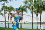 Fredrik Croneborg during the run portion of the 2015 Ironman…