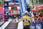 Martin Reynolds celebrates at the finish chute of the 2015…