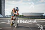 Timothy O'Donnell during the bike portion of the 2015 Ironman…