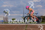 Kirsty Jahn during the bike portion of the 2015 Ironman…