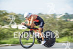 Helle Frederiksen during the bike portion of the 2015 Ironman…