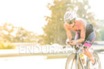 Ricarda Lisk during the bike portion of the 2015 Ironman…