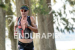 Richie Cunningham during the run portion of the 2015 Ironman…