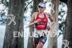 Sofie Goos during the run portion of the 2015 Ironman…