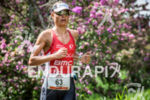 Helle Frederiksen during the run portion of the 2015 Ironman…