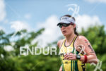 Haley Chura during the run portion of the 2015 Ironman…