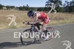 Rachel McBride in first place during the bike leg at…