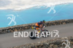 Athlete on the bike of the 2015 Ironman Lanzarote in…