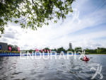 The start of the swim at the 2015 London Itu…