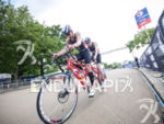 Nick Hammerling (GER)during the cycling stage on the bike at…