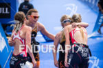 Melissa Reid (GBR) and Joleen Hakker (NED) embrace at the…