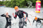 Alistair Brownlee exits the swim at the 2015 London Itu…