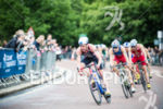 Alistair Brownlee  on the bike stage at the 2015 London…