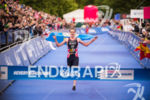 Alistair Brownlee approaches the finish line at the 2015 London…
