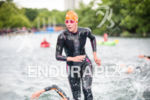 Carolina Routier competes on the swim at the 2015 London…