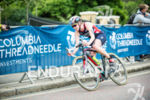 Non Stanford competes on the bike stage at the 2015…