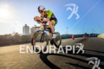 Kyle Buckingham during the bike portion of the 2015 Ironman…