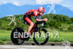 Paul Matthews during the bike portion of the 2015 Ironman…