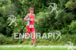 Brent McMahon during the run portion of the 2015 Ironman…