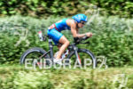 Julia Gajer on the bike at the Ironman 70.3  Kraichgau…
