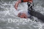 Brian Fleischmann during the choppy swim leg at Escape From…