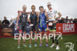 The winning pack at Escape From Alcatraz Triathlon on June…