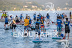 Stand up paddlers before the swim start of the 2015…