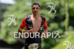 Ivan Rana competes in the run leg during the 2015…