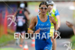 Eva Wutti competes in the run leg during the 2015…