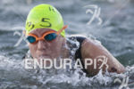 Alyssa Godesky completing the first lap of the swim at…