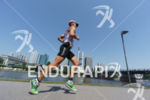 Andreas Boecherer competes during the run leg of the Ironman…