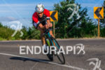 Craig Alexander sights the upcoming corner at the 2015 Ironman…