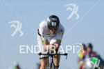 Markus Fachbach competes during the bike leg of Challenge Roth…
