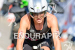 Anja Beranek competes during the bike leg of Challenge Roth…