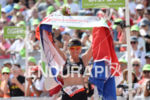 Yvonne van Vlerken celebrates at the finish line of Challenge…