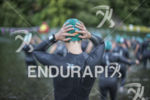 Female age groupers prepare to start the race at the…