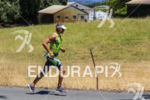 Andrew Drobeck on run at the 2015 Vineman Triathlon on…