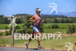 Eric Clarkson on run at the 2015 Vineman Triathlon on…