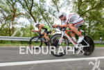 Christian Kramer and Boris Stein (l-r) compete during the bike…