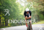 Jordan Rapp during the bike portion of the at the…