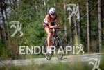 Jackie Hering during the bike portion of the at the…